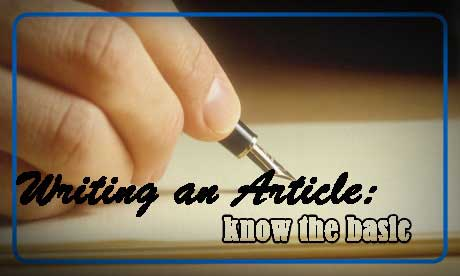 Writing An Article: Know The Basic