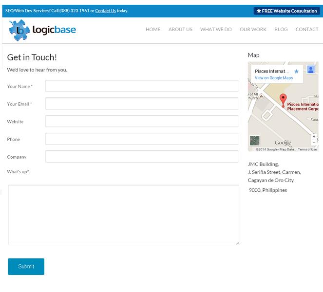 logicbase interactive landing page