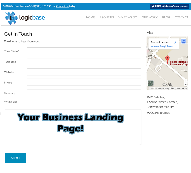logicbase interactive landing page, philippine seo landing page, seo philippines, bpo philippines