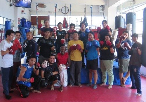 LBI Team In Action! Learning Kickboxing And Basic Self-Defense Techniques At Reveillino Kickboxing Academy